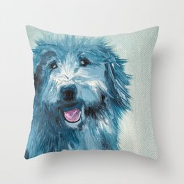 Henry - Portraits Of My Dog Friends Throw Pillow