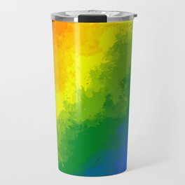 LGBT Flag Watercolour Travel Mug