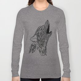 Feather Wolf Long Sleeve T-shirt