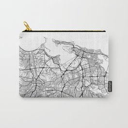 San Juan Map White Carry-All Pouch