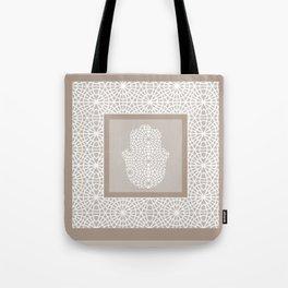 Hamsa in morrocan pattern Tote Bag