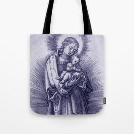 "Albrecht Dürer ""The Virgin with Hairband on a Crescent Moon"" Tote Bag"
