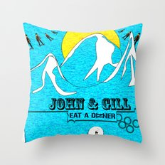 Jonh and Mayer Throw Pillow