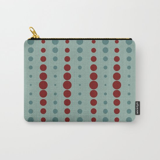 Geometric red-circle-pop Carry-All Pouch