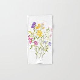 yellow pink white and  purple windflowers 2020 Hand & Bath Towel