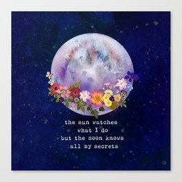 The moon watches Canvas Print