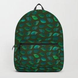 Green Leaf Motif Backpack