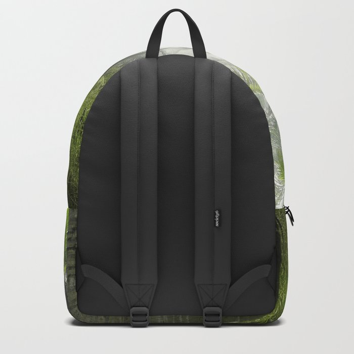 Foggy Palm Forest Backpack