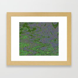 GORIAN MOSS GROWING ON FALIS THREE ON A CLOUDY DAY Framed Art Print
