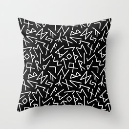 Scrambled Runes I Throw Pillow