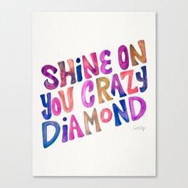 Shine On Your Crazy Diamond – Vintage Palette Canvas Print