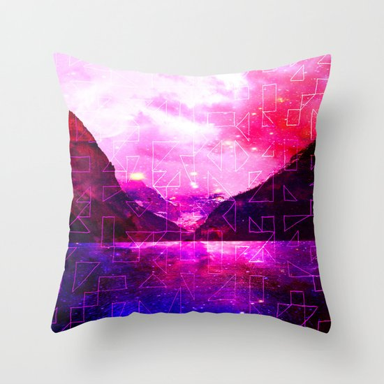 Spaced Louise Throw Pillow