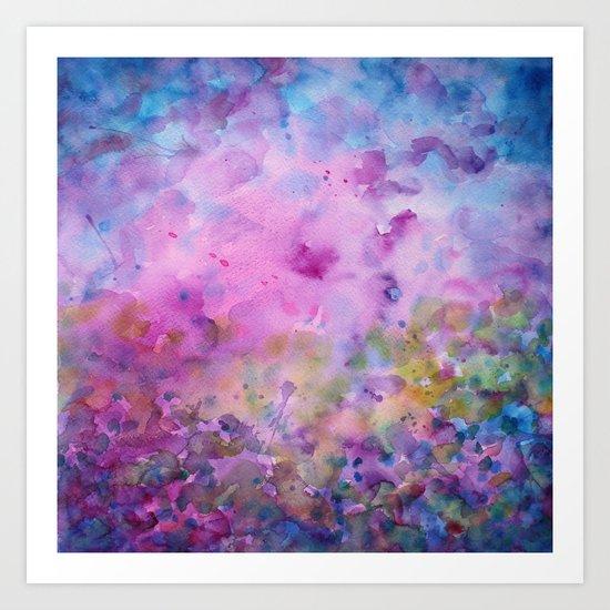 Purple Mystical Spring Art Print