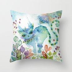Esmeralda of the Mystery Throw Pillow