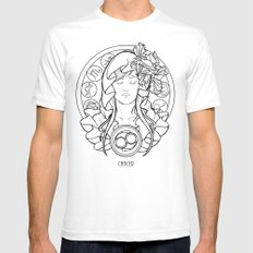 Zodiac Series | Cancer SMALL Mens Fitted Tee White