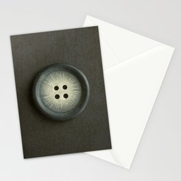 Vintage Grey Button Stationery Cards