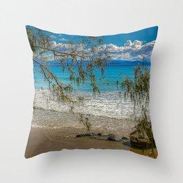 Byron Bays' Blue Surf Throw Pillow