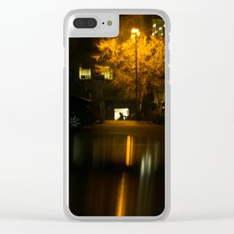 Lonely Nights Clear iPhone Case