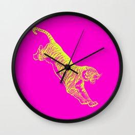 Tiger Running Wall Clock