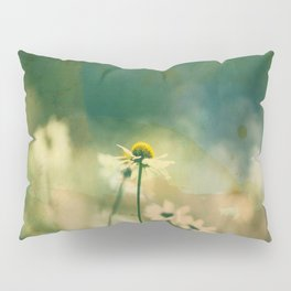 He Loves Me, Daisies Wildflowers Pillow Sham
