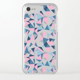 Abstraction Repeat Pink Clear iPhone Case
