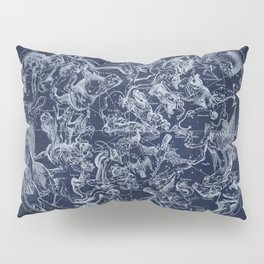 Vintage Constellations & Astrological Signs | White Pillow Sham