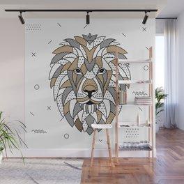 Lion Chocolat Wall Mural
