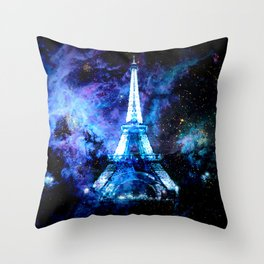 paRis galaxy dreams Throw Pillow