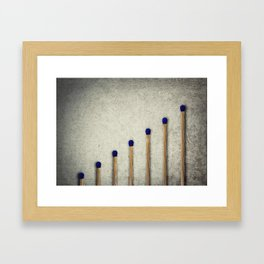 whole matches stairsteps Framed Art Print