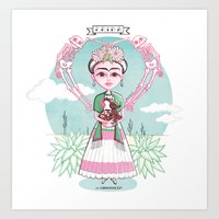 frida khalo Art Prints featuring Frida  by Misst1guett