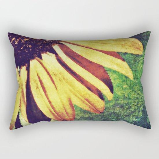 Sunflower Fleur De Lis Rectangular Pillow