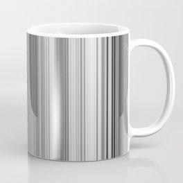 Black White Gray Thin Stripes Coffee Mug
