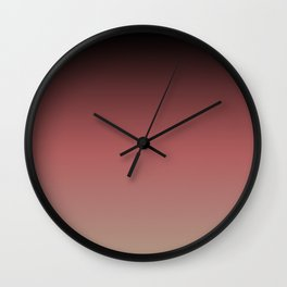 Ombre Black, Dusty Cedar, and Warm Taupe FALL 2016 PANTONE COLORS Wall Clock