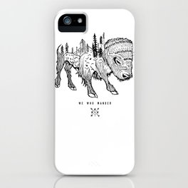 Buffalo | We Who Wander Threads iPhone Case