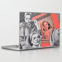 persona Laptop & iPad Skins featuring Persona - collage by Deborah Stevenson Collage Art