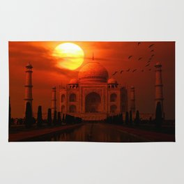Taj Mahal Sunset Rug
