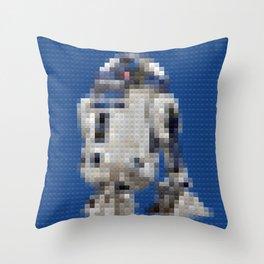 R2D2 Droid - Legobricks Throw Pillow