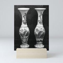 Vintage pottery vases Mini Art Print