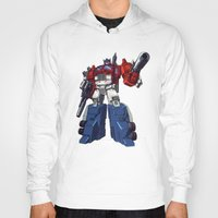 optimus prime Hoodies featuring Optimus by CromMorc