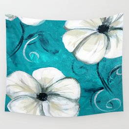 Flowers in Oil Wall Tapestry