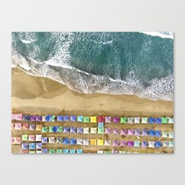 Aerial view of the beach in Mexico Canvas Print