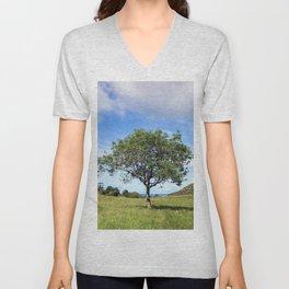 The Lonely Tree Unisex V-Neck