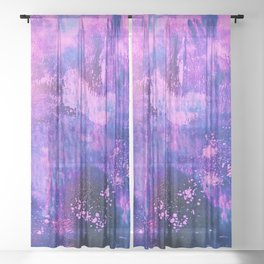 Nightingale Abstract Painting Sheer Curtain