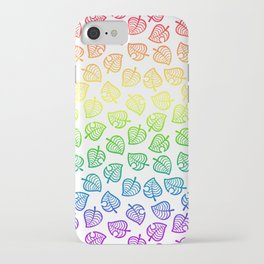 animal crossing villager nook shirt pattern gay pride iPhone Case