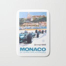 1966 MONACO Grand Prix Racing Poster Bath Mat