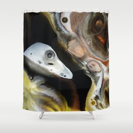 Janus - God of Beginnings, transitions, and duality - Original Abstract Painting Shower Curtain