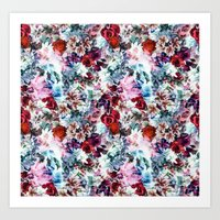 floral pattern Art Prints featuring Floral Pattern by Eduardo Doreni