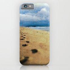 Footprints in the Sand (California Beach) iPhone 6s Slim Case