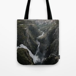 Voringsfossen Waterfall - Landscape and Nature Photography Tote Bag