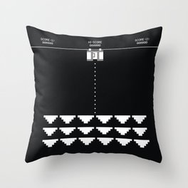 Briefs Invaders Throw Pillow